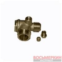 Обратный клапан резьба наружная 3/4 M1/2 9048003 компрессора Dari