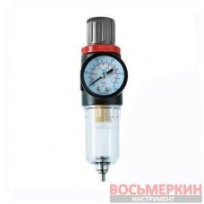 Фильтр для очистки воздуха + редуктор, 1/4 PT-1412 Intertool