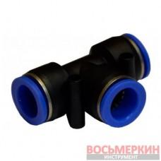 Соединитель тройной для пластиковых трубок 10 мм SPE10 Airkraft