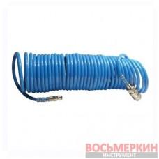 Шланг воздушный ПВХ спиральный с быстроразъемным соединением 5,5х8мм 5м PT-1706 Intertool
