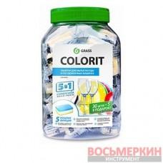 Таблетки для посудомоечных машин Colorit 5 в 1 35 шт 213000 Grass