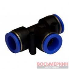 Соединитель тройной для пластиковых трубок 6 мм х 6 мм х 8 мм SPE06-08 Airkraft