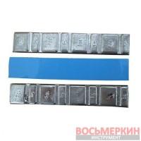 Груз клеящийся низкий голубая лента 4 х 10 г 4 х 5 г Украина 57505 (п/э)
