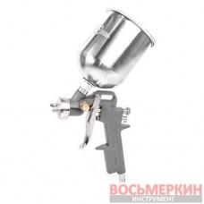 Пистолет покрасочный пневматический, форсунка 1.5мм, В/Б металл, 600мл PT-0205