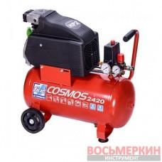 Компрессор 24л 8 атм 210л/мин 220В COSMOS 2420 220В CE ROSSO №9995260000 Fiac Италия