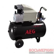 Компрессор поршневой прямоприводный AEG L24 ресивер 24 л пр-сть 170 л/мин 1129980990 Fiac