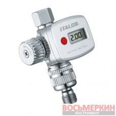 Регулятор давления воздуха цифровой для краскопульта FR8 Italco