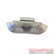 Грузик балансировочный для стандартных дисков Полтава 30 гр 100 шт/уп