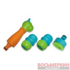 Набор детский для полива ороситель 3-х функциональный коннектор 1/2 перех. на 5/8 STOP+STANDART адаптер 1/2 перех. на 5/8 Black