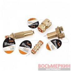 Тройник 3/4 с двумя шаровыми кранами 3/4 Brass BR-2234 Bradas
