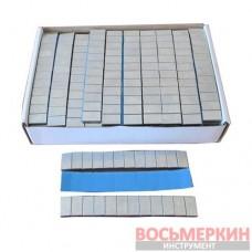 Груз клеящийся низкий голубая лента 12х5г 60 гр металлический с выступающей лентой 100 шт/уп