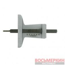 Измеритель глубины протектора, металл прозрачный чехол 8012