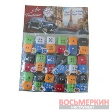 Ароматизатор Игрушка Кубики цветные 2 шт ПЛАНШЕТ 18 шт