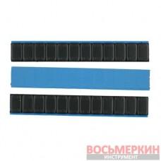 Груз клеящийся Черный низкий голубая лента 12х5г 60 гр металл с лайнером 100 шт/уп