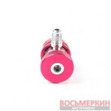 Адаптер красный 1/4 для 2-х вентил. манометр. коллектора ATL-9006 Licota