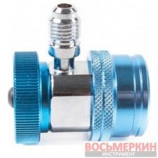 Адаптер синий 1/4 для 2-х вентил. манометр. коллектора ATL-9007 Licota