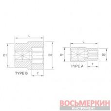 Головка торцевая Spline 1/2 8 мм P4008 Licota