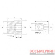 Головка торцевая Super lock 1/2 12 мм R4012 Licota
