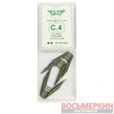 Ножи трапецевидные для нарезки протектора 10-14 мм упаковка 20шт C4 PSO Франция
