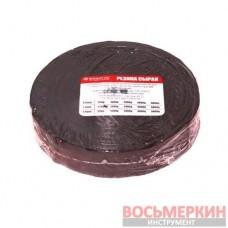 Сырая вулканизационная резина 500 г 0,8 мм 25 мм РС-500 0,8 Россвик цена за рулон
