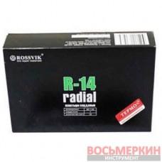 Радиальный пластырь R 14 термо 85 х 130 мм 1 слой корда Россвик Rossvik