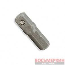 Переходник 1/4 х1/4 L25 (6-гр. х квадрат) FSKA0808 TOPTUL