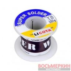 Припой оловянно-свинцовый 60/40 100 гр AET-6501SND Licota