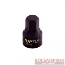 Головка HEX 3мм 1/4 (цельная) BCDB0803 TOPTUL