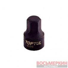 Головка HEX 6мм 1/4 (цельная) BCDB0806 TOPTUL