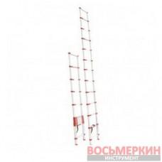Лестница алюминиевая телескопическая 12ступ. 3.80м LT-3038 Intertool