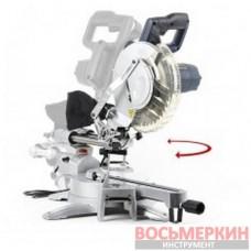 Пила торцовочная, 1800 Вт, 5500 об/мин, угол 0-45°, диск 255мм. DT-0625 Intertool