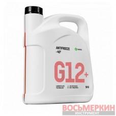 Жидкость охлаждающая низкозамерзающая Антифриз G12+ -40 5 кг 110332 Grass