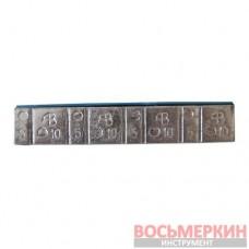 Груз клеящийся низкий голубая лента 4х10г+4х5г Украина АВ Finger Lift 50 шт/уп