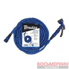 Растягивающийся шланг набор TRICK HOSE 5-15 м синий пакет WTH0515BL-T-L Bradas