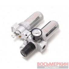 Блок подготовки воздуха для пневмосистемы 1/4 фильтр-регулятор и лубрикатор диапазон регулировки 0-10bar RF-AFRL802 Rock Force