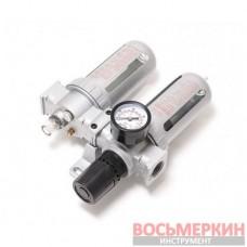 Блок подготовки воздуха для пневмосистемы 3/8 фильтр-регулятор и лубрикатор диапазон регулировки 0-10bar F-AFRL803 Forsage