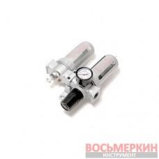 Блок подготовки воздуха для пневмосистемы 3/8 фильтр-регулятор и лубрикатор диапазон регулировки 0-10bar RF-AFRL803 Rock Force