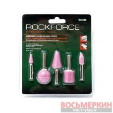 Набор камней абразивных 5 предметов хвостовик 6 мм в блистере RF-GSK503 Rock Force