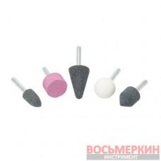 Набор камней абразивных 5 предметов хвостовик 6 мм F-GSK501 Forsage