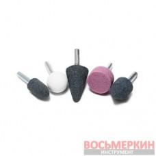 Набор камней абразивных 5 предметов хвостовик 6 мм в блистере F-SK-108 Forsage