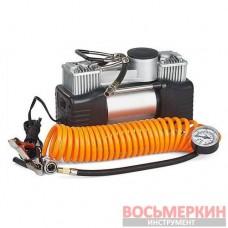 Миникомпрессор автомобильный двухпоршневой, 12В E-81-118 Expert