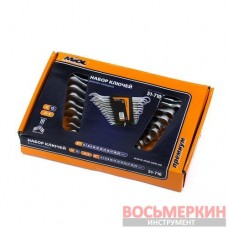 Набор ключей рожково-накидных 8 единиц от 8 мм до 19 мм 51-705 Miol