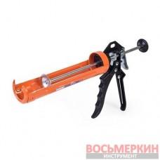 Пистолет для выдавливания силикона скелет алюминиевая ручка 09-155 Miol