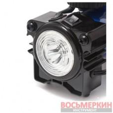 Компрессор поршневой автомобильный с фонарем 35 л/мин 14А 12V F-001 Forsage