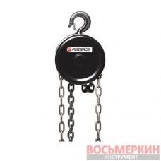 Лебедка механическая подвесная с фиксацией цепи натяжения 0.5т длина цепи 2.5 м F-TR9005 Forsage