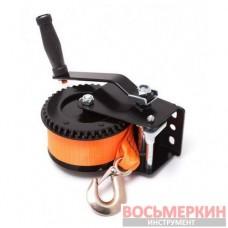 Лебедка ручная барабанного типа нейлоновый ремень 450 кг 50 мм х 10 м PA-6779 Partner