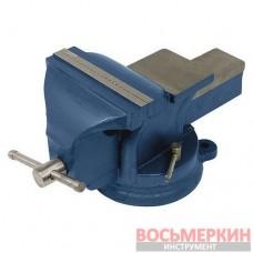 Тиски слесарные поворотные синие 100 мм 36-200 Miol