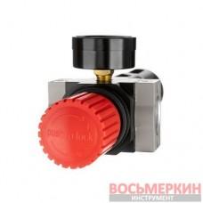 Фильтр для очистки воздуха с редуктором 1/2 5 мкм 2500 л/мин металл профессиональный PT-1418 Intertool