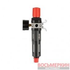 Фильтр для очистки воздуха с редуктором 1/4 5 мкм 1200 л/мин металл профессиональный PT-1419 Intertool