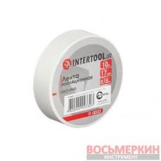 Лента изоляционная 0.15 мм х 17 мм х 10 м белая IT-0033 Intertool